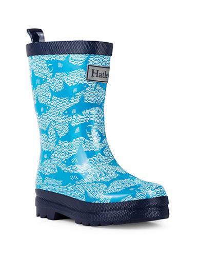 Hatley Shark Alley Rain Boots-TURQUOISE-12