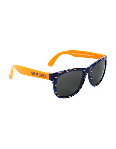 Hatley Sea Ya Later Wayfarer Sunglasses-ORANGE-One Size