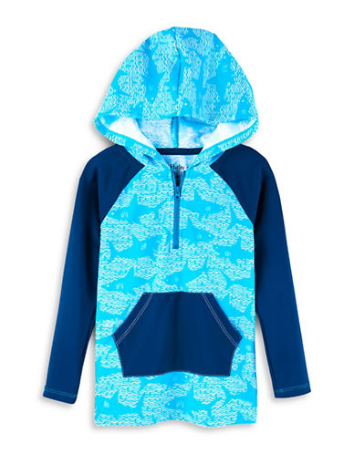 Hatley Whale-Print Hooded Rash Guard-ASSORTED-7