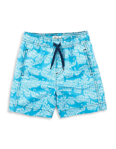 Hatley Whale-Print Swim Trunks-ASSORTED-5