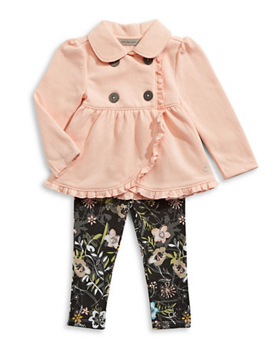 Calvin Klein Two-Set Jacket and Floral Legging Set-MULTI-4X