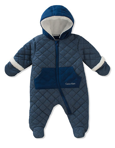 Calvin Klein Quilted Chambray Onesie-ASSORTED-18 Months