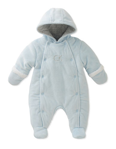 Calvin Klein Plush Sherpa Footie-ASSORTED-6-9 Months