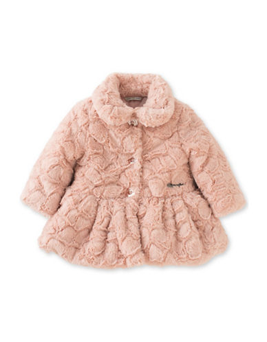 Calvin Klein Plush Fit-and-Flare Coat-PINK-12 Months