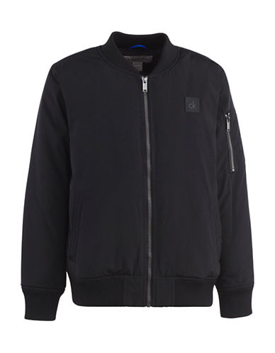 Calvin Klein Aviator Jacket-BLACK-Medium