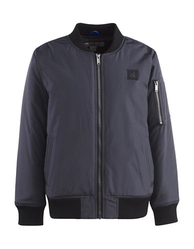 Calvin Klein Aviator Jacket-GREY-4