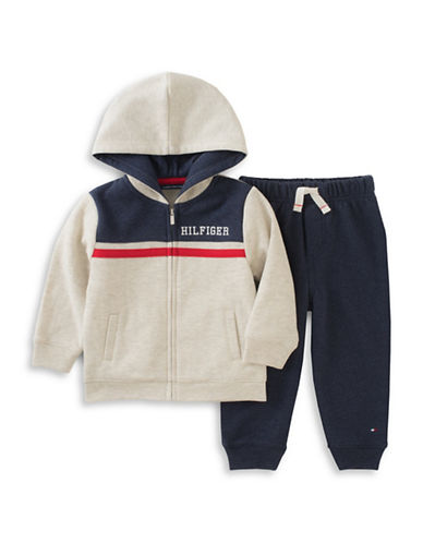Tommy Hilfiger Two-Piece Fleece Hoodie and Pants Set-ASSORTED-4T