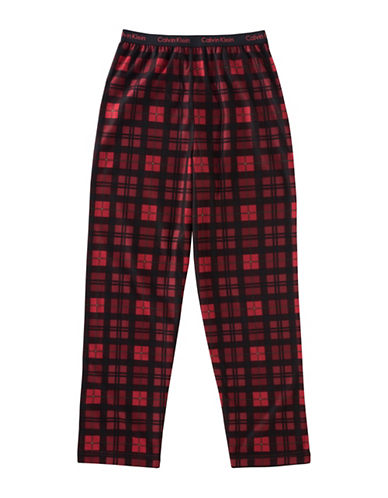 Calvin Klein Plaid Jersey Pants-ASSORTED-7-8
