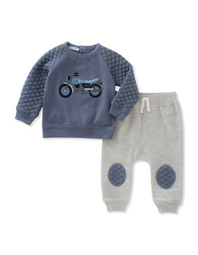 Calvin Klein Two-Piece French Terry Jogging Set-BLUE-24 Months