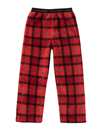 Calvin Klein Plush Plaid Pyjama Pants-RED-10-12