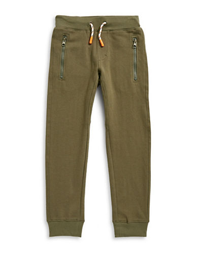 Tommy Hilfiger Drawstring Chevron Jogger Pants-GREEN-3