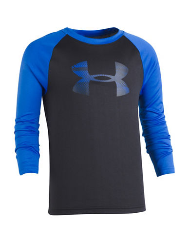 Under Armour Lines Logo Raglan Tee-BLACK-5