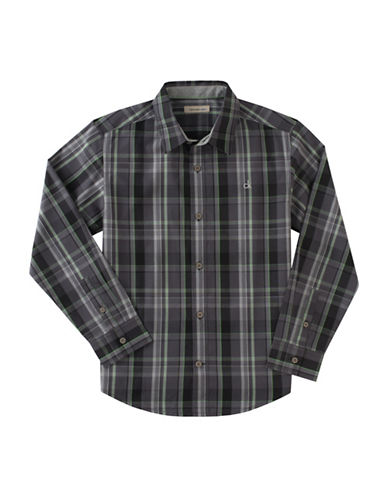 Calvin Klein Dusk Plaid Shirt-BLACK-Large