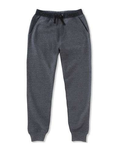 Calvin Klein Fleece Drawstring Jogger Pants-BLUE-Small 89252672_BLUE_Small