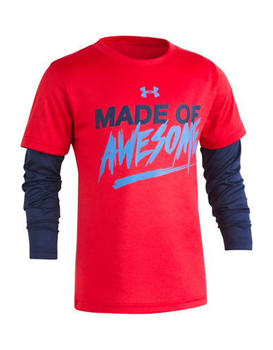Under Armour Made of Awesome Slider Pullover-RED-4