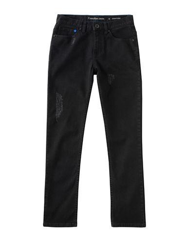 Calvin Klein Skinny Stretch Jeans-BLACK-18