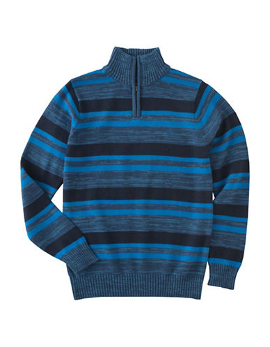 Calvin Klein Halt Half Zip Sweater-BLUE-Medium