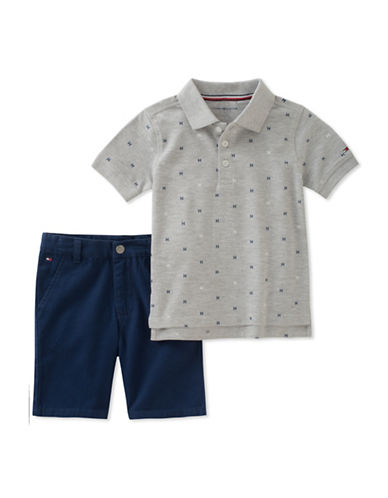 Tommy Hilfiger Two-Piece Polo and Cotton Shorts Set-ASSORTED-24 Months