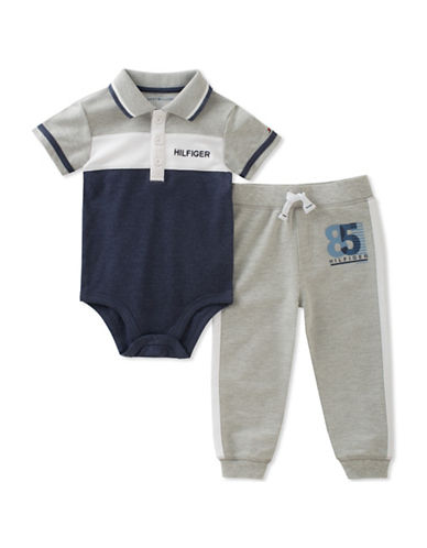Tommy Hilfiger Logo Polo Bodysuit and Pants Set-ASSORTED-12 Months