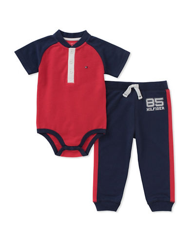 Tommy Hilfiger Logo Bodysuit and Sweatpants Set-ASSORTED-24 Months