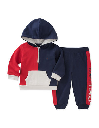 Tommy Hilfiger Two-Piece Colourblock Sweater and Pants Set-ASSORTED-24 Months
