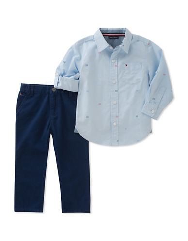 Tommy Hilfiger Two-Piece Shirt and Pant Set-ASSORTED-12 Months