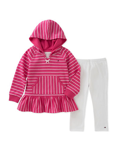 Tommy Hilfiger Two-Piece Striped Hoodie and Leggings Set-ASSORTED-4X