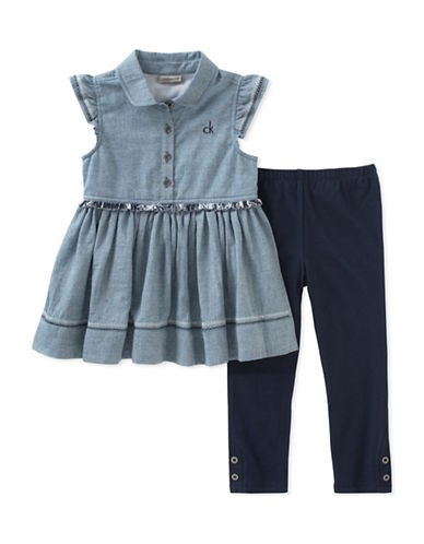 Calvin Klein Two-Piece Tunic and Leggings Set-ASSORTED-24 Months