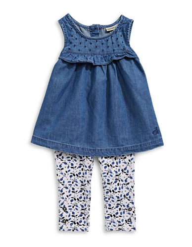Calvin Klein Two-Piece Denim Tunic and Leggings Set-ASSORTED-24 Months