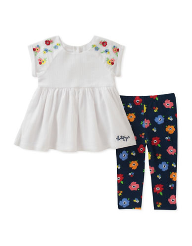 Tommy Hilfiger Two-Piece Floral Tunic and Legging Set-ASSORTED-18 Months