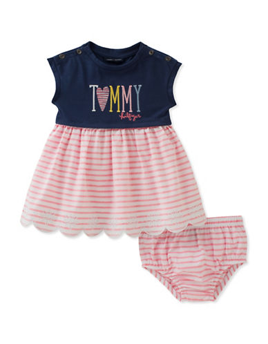 Tommy Hilfiger Two-Piece Striped Dress and Panty Set-ASSORTED-24 Months