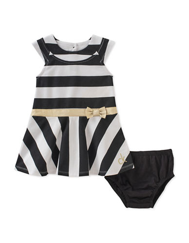 Calvin Klein Two-Piece Striped Dress and Bloomer Set-ASSORTED-24 Months
