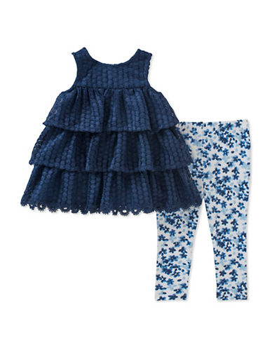 Calvin Klein Two-Piece Crochet Top and Leggings Set-ASSORTED-12 Months