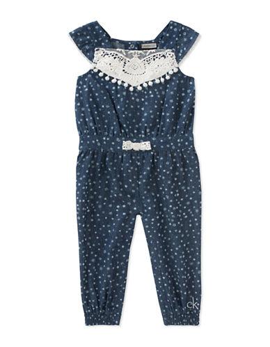Calvin Klein Floral Denim Romper-ASSORTED-12 Months