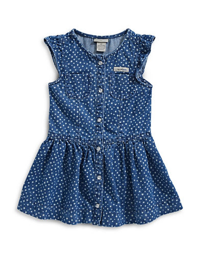 Calvin Klein Dotted Denim Dress-ASSORTED-3X
