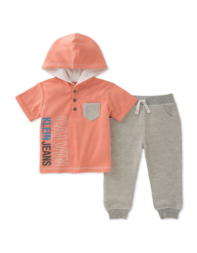 Calvin Klein Two-Piece Hoodie and Jogger Set-ASSORTED-18 Months
