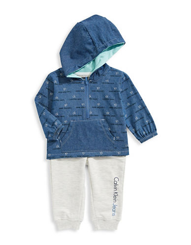 Calvin Klein Two-Piece Denim Hood and Pants Set-ASSORTED-12 Months