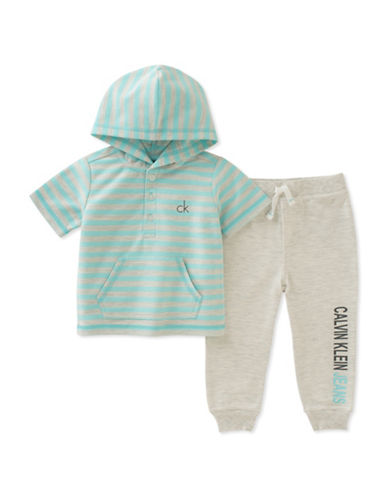 Calvin Klein Two-Piece Hoodie and Jogger Set-ASSORTED-24 Months
