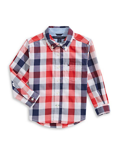 Tommy Hilfiger Brett Gingham Sport Shirt-MULTI-4