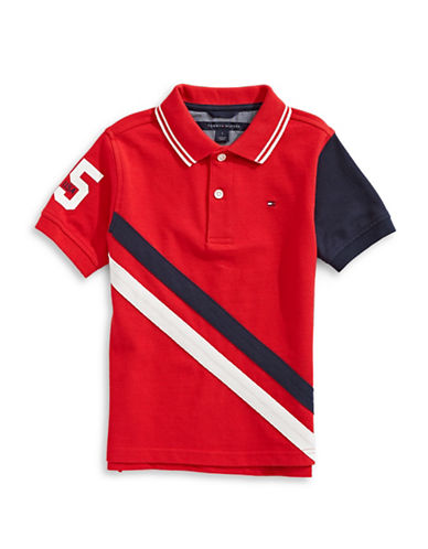 Tommy Hilfiger Shawn Short Sleeve Cotton Polo-RED-3X
