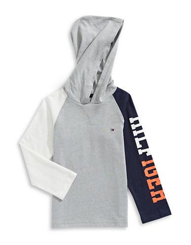 Tommy Hilfiger Jamie Logo Hoodie-BLACK/GREY-4