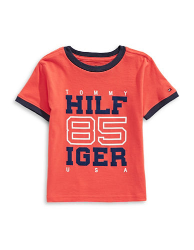 Tommy Hilfiger 85 Holly Short Sleeve Cotton Tee-PINK-4