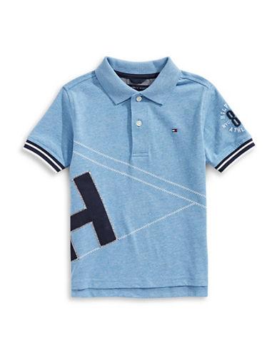 Tommy Hilfiger Jeremy Short Sleeve Cotton Polo-BLUE-X-Large