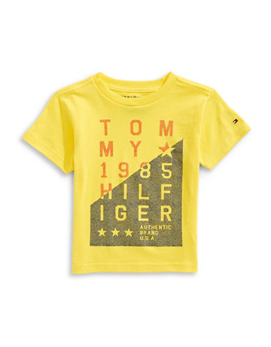 Tommy Hilfiger Authentic Short Sleeve Cotton Tee-YELLOW-Large