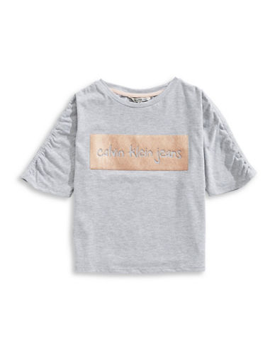 Calvin Klein Knockout Cotton Tee-LIGHT GREY-Large