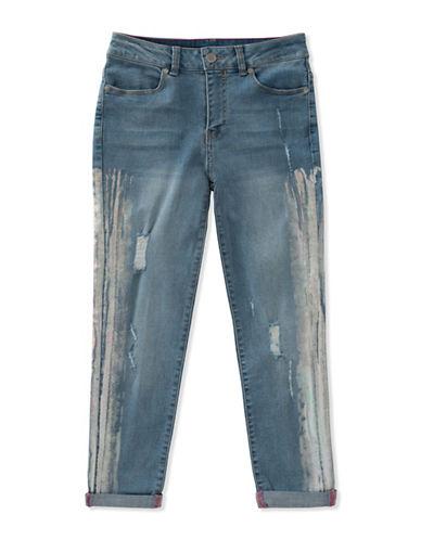 Calvin Klein Foil-Print Boyfriend Jeans-BLUE-7