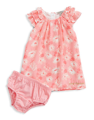 Calvin Klein Baby Girl's Floral Chiffon Dress and Bloomers Set 89985970