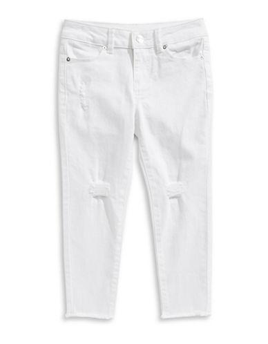 Calvin Klein Frayed Capri Skinny Jeans-WHITEOUT-10