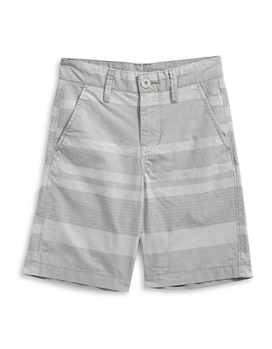 Calvin Klein Horizontal Strip Cotton Shorts-DARK GREY-12