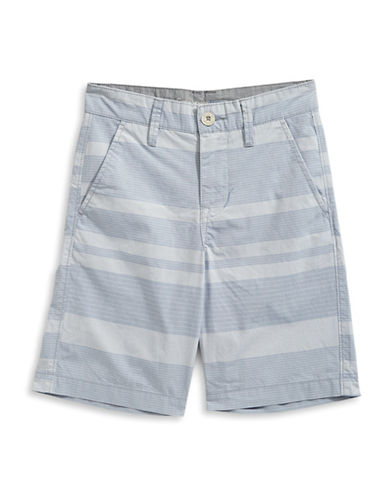 Calvin Klein Horizontal Stripe Cotton Shorts-LIGHT BLUE-18